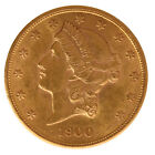 SCARCE OLD 1900 USA | AMERICAN $20 LIBERTY HEAD DOUBLE EAGLE | GOLD COIN! NICE!