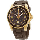 Victorinox Swiss Army Maverick GS Brown Dial Brown Rubber Mens Watch 241608