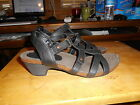 Woman's Cloud Walkers Black Ankle Strap Heels Sandals Sz 8W
