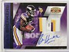 2010 Gridiron Gear Game Breakers Percy Harvin auto autograph patch #D 1 1 *25937