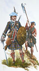 ORIGINAL MILITARY WATERCOLOUR PAINTING 19 CLAN MACDONALD OF CLANRANALD 1746
