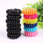 50 100pcs Girl Elastic Rubber Hair Ties Band Rope Ponytail Holder Telephone Wire