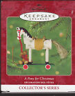 2000 Hallmark  A Pony For Christmas Series Ornament Dated NIB NEW IN BOX