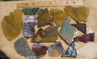 2 LB-1-- Slabs for Cabochons-- Lot-Mixed Stones--2 +lb