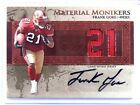 2007 Leaf Limited Material Monikers Frank Gore auto autograph jersey #D13 21 *39