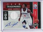 11-12 Limited Trademarks Andre Iguodala auto autograph jersey #D17 49 *35019