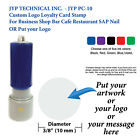 Custom Logo Loyalty Card Stamp For Business Shop Bar Cafe Restaurant SAP Nail