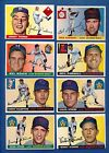 Topps 1955 Lot (8)!! Nice!! w 2 Rookies++!! Book Value $115!! Under $1!!