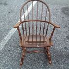 Tell City Chair Co.Vintage Spindle Rocker Mahogany Rocking Chair Nice Label