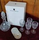 Royal Limited Lead Crystal Wine Set- Decanter, 4 Wine Glasses, 4 Silver Coasters