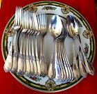 Classic French Sterling Silver Luncheon Flatware Set... 20 Pcs...Forks