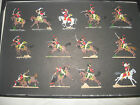 TOY SOLDIERS--FRENCH HUSSARS -WATERLOO--30MM FLATS-VERY NICE