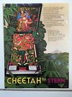 CHEETAH By STERN 1980 PINBALL PROMOTIONAL BROCHURE--