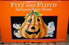 2004 Fitz and Floyd Halloween Bunny Blooms Candy Jar-Brand New in Box!
