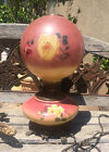 1880sGONE WITH THE WIND OIL CONVERTED ELECTRIC PARLOR LAMP HAND PAINTED ROSES