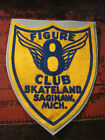 RARE 55 SILK PATCH FROM FIGURE 8 CLUB SKATELAND SAGINAW MICHIGAN