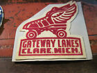 RARE 5 FELT PATCH FROM GATEWAY LANES IN CLARE MICHIGAN