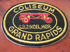 RARE 4 EMBROIDERED PATCH FROM THE COLISEUM ROLER RINK IN GRAND RAPIDS MICHIGAN