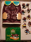 LOT California Raisins Cereal Box / Bank plastic 1983 Sandwich 1987 + Raisins