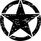 Jeep Wrangler Blackout Oscar Mike Distressed Star Decal - Various Sizes Colors