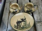 Moose plate and cups