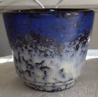 GERMANY COBALT BLUE FLOWER POT PLANTER VG COND BLACK WHITE BEAUTIFUL 4 1/2 HIGH
