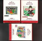 Hallmark Family Game Night MONOLOPLY SORRY CANDYLAND 2016 2015 2014  #1 #2 #3