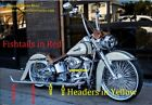 Harley Softail Fishtail CHOLO Exhaust Pipes 36 Long
