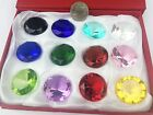 Special Day Gift 12 30MM Glass Diamond Box mix color Paperweight Jewelry Gift