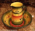 Tabletops Unlimited Gallery LA PROVINCE Pitcher & Serving Bowl Wash Basin Style