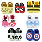 Baby Infant Boy Girl Crib Character Cotton Shoes Slippers Size 6 12 months