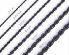 One Day Ship 16 36 Mens Womens Stainless Steel Black Rope Chain Necklace ch069