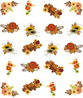 Fall Flowers Waterslide Water Transfer Nail Decals Nail art