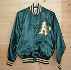 Ladies Oakland As Satin Baseball Jacket