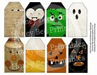 Primitive Grungy Look Hang Tags - Halloween Fall Faces - 16212 - Scrapbooking