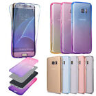 360full Cover Slim clear Soft Silicone Rubber protective phone Case For Samsung
