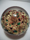 Robert Held Signed Paperweight Cranberry & 24K Gold