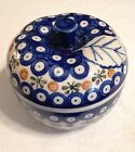Hand Made In Poland, Polish Pottery APPLE BAKER **Excellent Condition**