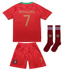 Portugal Cristiano RONALDO 7 CR7 Home Kids Soccer Jersey  Shorts Youth Sizes