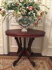 CARVED ANTIQUE FRENCH TABLE, WALNUT OR MAHOGANY WITH CASTORS, BEAUTIFUL