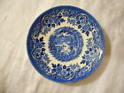 Saucer (No Cup), Churchill, English Scene Blue Pattern, Castle Fishing England