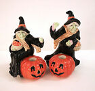 Fitz & Floyd Witch Candleholders (2) Halloween '88 - get it by 10/31