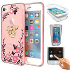 360 Shockproof Full Screen Protector Flower TPU Case For iPhone 6S 7 8 Plus US