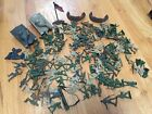 HUGE LOT OF PLASTIC GREEN + BROWN ARMY MEN TOY SOLDIERS And Tanks