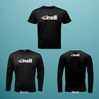 NEW CINELLI Logo 1 Side Black t shirts or 2 side Long Sleeve S to 3XL