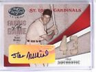 2004 Leaf Certified Fabric Of Game Stan Musial autograph jersey #D 1 1 *57304