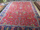 10x13 TABRIZ PERSIAN RUG Animals, Lions, Deer