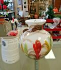 DAVE FETTY MULTI FEATHER VASE 665 850 LIMITED EDITION STUNNING