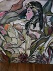 STAINED GLASS WINDOW  modern painting mixed medium by Alexander 33x33 wrapped