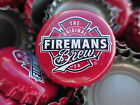 100  Red Firemans Brew  Beer Bottle Caps No Dents Free Shipping
